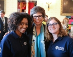 AmeriCorps VISTA members with Valerie Jarrett
